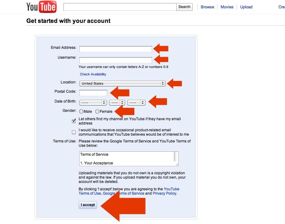 Create youtube video mac